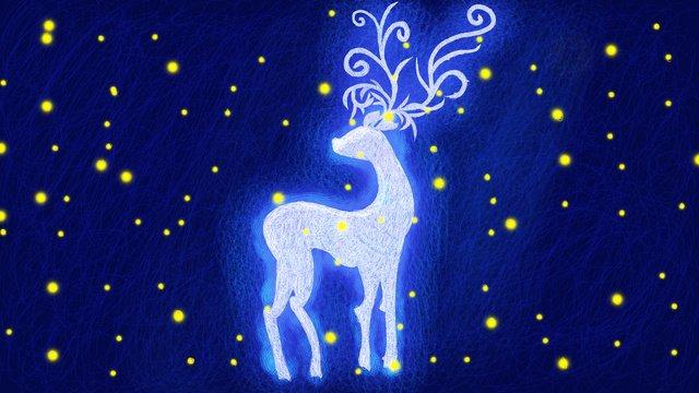 森林ヘラジカ治療のオリジナルの手描きイラストのコイルイラスト イラストレーション画像