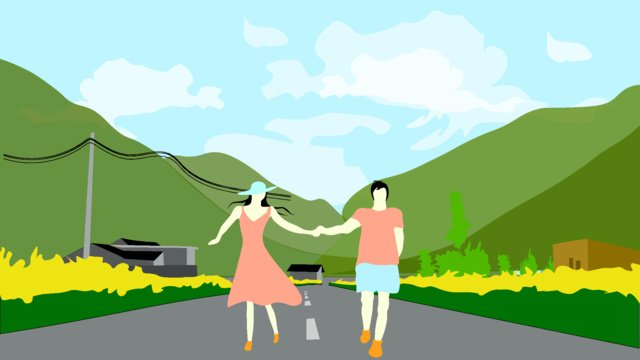 Valentines day out dating couple llustration image illustration image