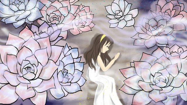 Лунатизм wonderland girl Иллюстрация Ресурсы иллюстрации Иллюстрация изображения