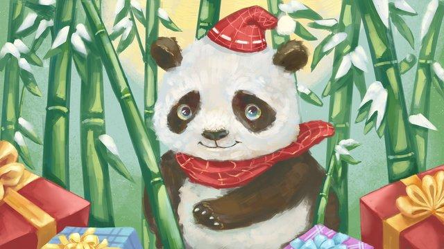 मेंग पालतू पांडा यथार्थवादी बनावट मोटी पेंटिंग तेल चित्रकला शैली उपहार चित्रण चित्रण छवि चित्रण छवि