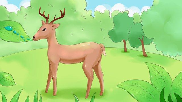 lin shenjian deer Material de ilustração Imagens de ilustração