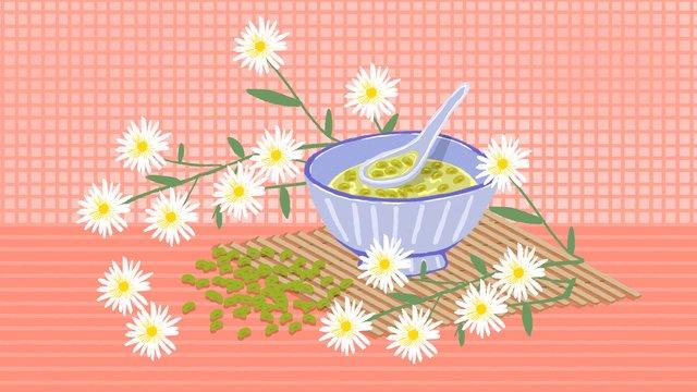 Last mung bean soup llustration image illustration image