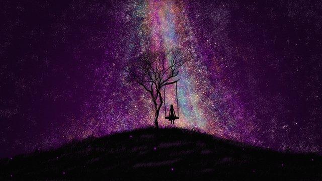 하오 싱 xinghai 다채로운 은하 원래 그림 삽화 소재 삽화 이미지