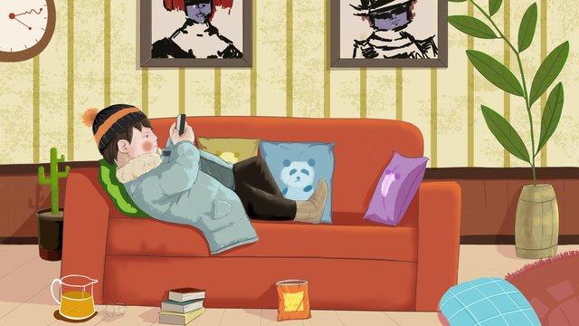 Счастливая жизнь в толстом доме Ресурсы иллюстрации