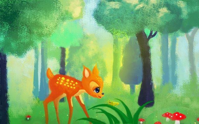 ilustração de crianças fulvo floresta Imagem de llustration