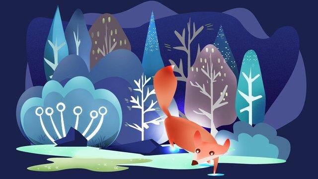 フォックスフォックスフォックス魔法の森動物ファンタジーシリーズイラスト イラストレーション画像