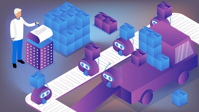 Future technology sense artificial intelligence robot 2.5d vector illustration, Future, Technological Sense, Artificial Intelligence illustration image