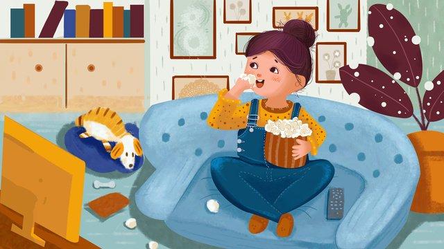 Счастливое зимнее время в толстом доме Ресурсы иллюстрации
