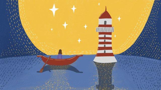 mercusuar laut malam yang baik imej keterlaluan