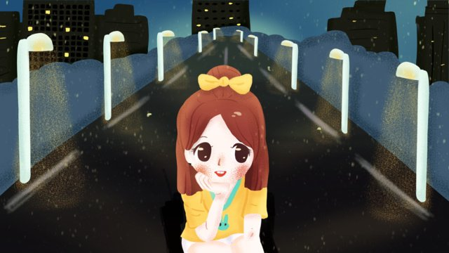 Good night hello girl illustration, Good Night, Hello There, Mobile Phone With Picture illustration image