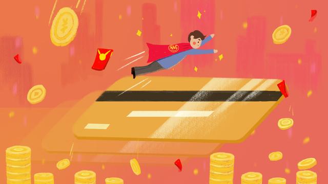 Ручная роспись Супермен Золотая монета Кредитная карта Ресурсы иллюстрации