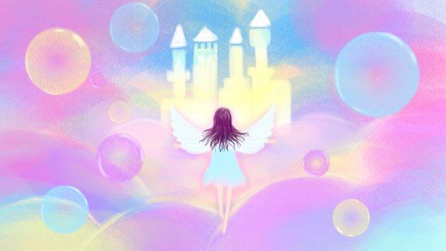 ภาพประกอบต้นฉบับ   healing dreamland wonderland sky city ภาพ
