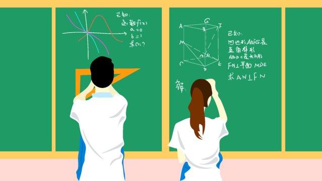 高校の教室のさわやかな挿し絵 イラスト素材 イラスト画像