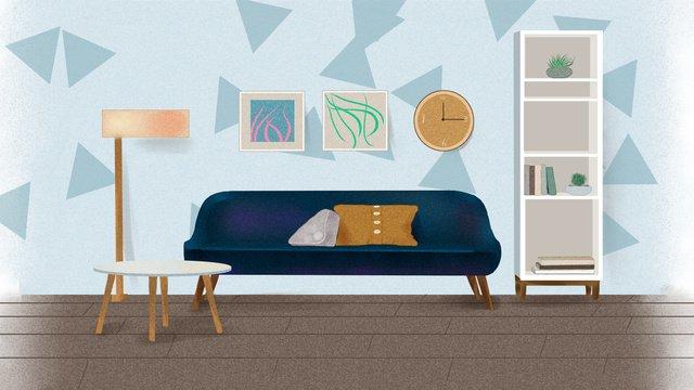 Exclusive single life, Life, Home, Sofa illustration image
