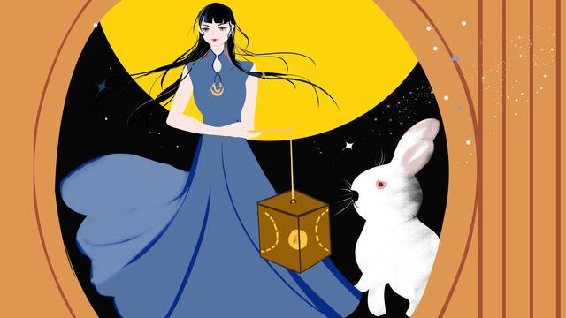 嫦娥月兔 traditional festival mid autumn illustration llustration image