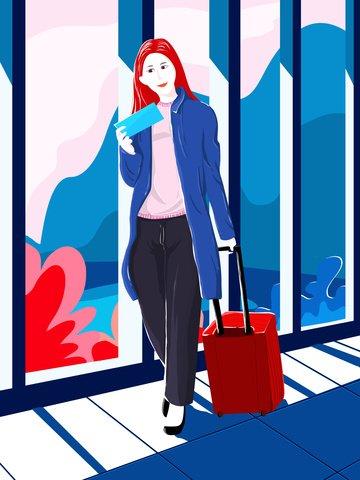 chủ nghĩa hiện đại thời trung cổ để đi du lịch cô gái Hình minh họa