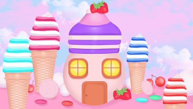 ngôi nhà kem trái cây dream castle Hình minh họa Hình minh họa