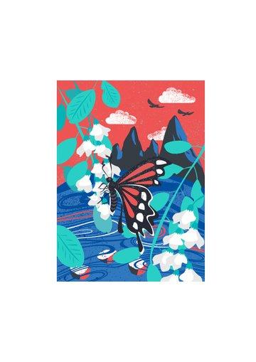 thời trung cổ  cổ điển hiện đại đơn giản vẽ minh họa cho bướm vẽ động vật trang trí Hình minh họa
