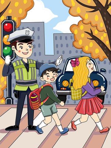 元の文明旅行に従う交通漫画イラスト イラスト画像