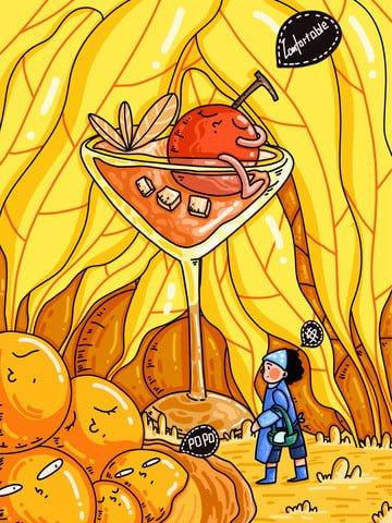 幼年期のファンタジーの塩漬け卵の冒険 イラスト画像