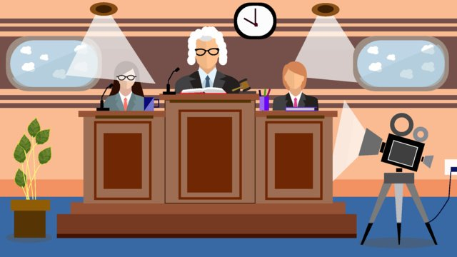 Original lawyer office character scene flat style illustration llustration image