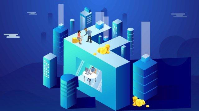 real estate financial blockchain technology sense letter f2 5d llustration image