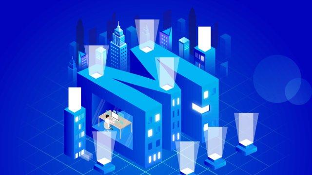 real estate internet business circle blockchain technology sense letter m llustration image illustration image