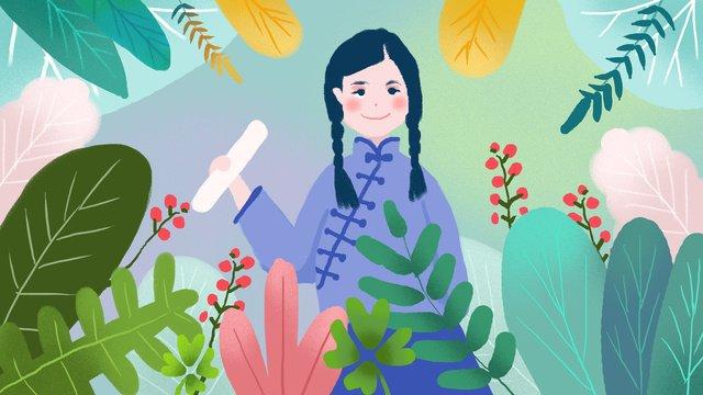 Republic of china student costume illustration llustration image illustration image