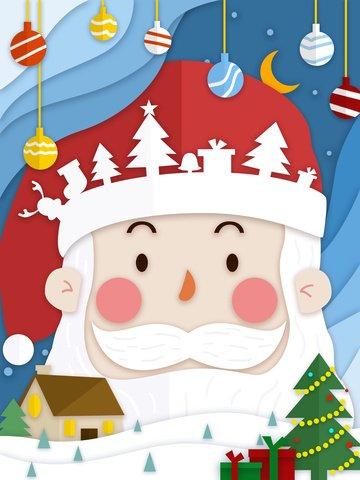 paper cut wind blue gradient christmas happy sve santa imej keterlaluan