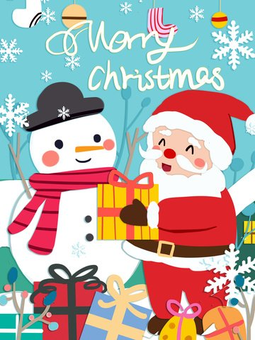 giáng sinh ông già noel với người tuyết dễ thương giấy ấm cắt gió minh họa Hình minh họa Hình minh họa