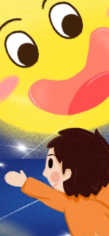 autumn september mid autumn festival moon and boy illustration imej keterlaluan imej ilustrasi