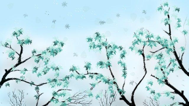 Hello september tree illustration llustration image