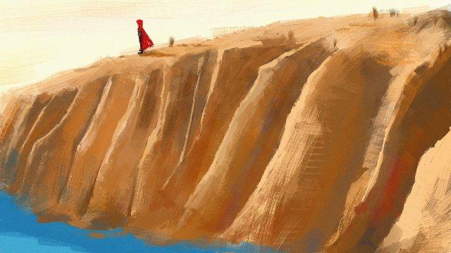 dreamwalking wonderland sea cliff minh họa gốc Hình minh họa