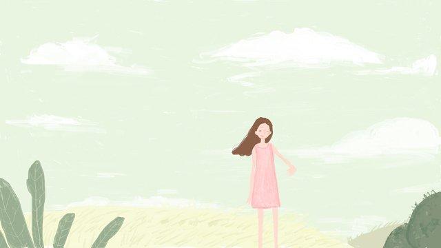 Original small fresh girl illustration, Small Fresh, Small Fresh Illustration, Little Fresh Girl illustration image