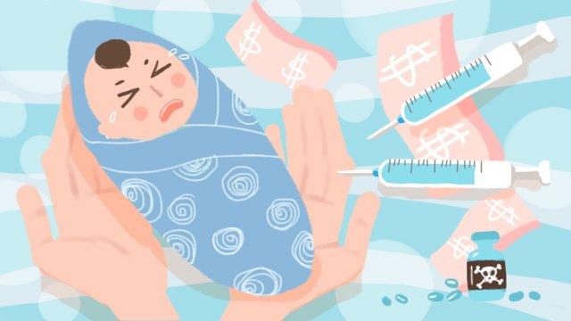 vẽ tay hoạt hình xã hội vấn đề sinh kế vắc xin trẻ em minh họa ban đầu Hình minh họa Hình minh họa