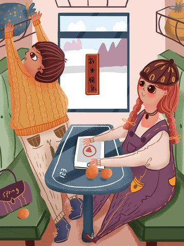 Spring festival home men and women take the train to put luggage hand drawn illustration llustration image