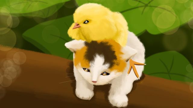 meng 哒 cure animal series cute kitty hero save beauty Hình minh họa Hình minh họa