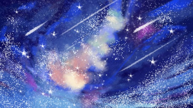 hand painted starry night late dream illustration imej keterlaluan imej ilustrasi