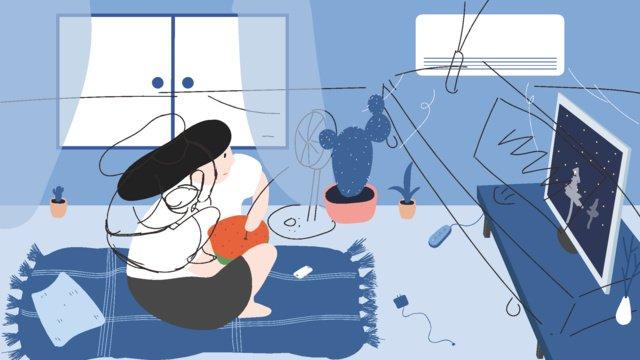 summer of fat house llustration image