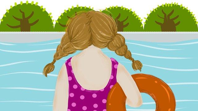夏天你好夏天插畫 插畫素材 插畫圖片