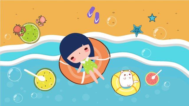 summer llustration image