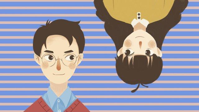 七夕の甘いカップル イラスト素材 イラスト画像