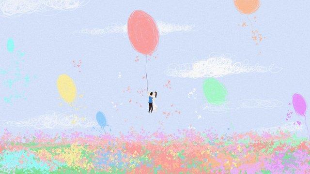 七夕告白バルーンオリジナルイラスト七夕  バレンタインデー  告白 PNGおよびPSD illustration image