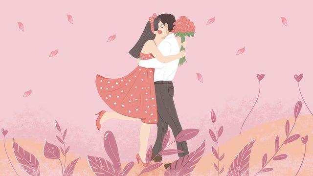 七夕バレンタインデーカップルデートオリジナルの小さな新鮮なイラスト イラスト素材 イラスト画像