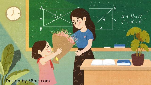 ngày nhà giáo cho giáo viên yêu original bằng tay vẽ minh họa cho Hình minh họa Hình minh họa