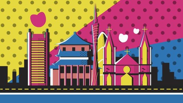 travel guangzhou pope wind vector illustration llustration image