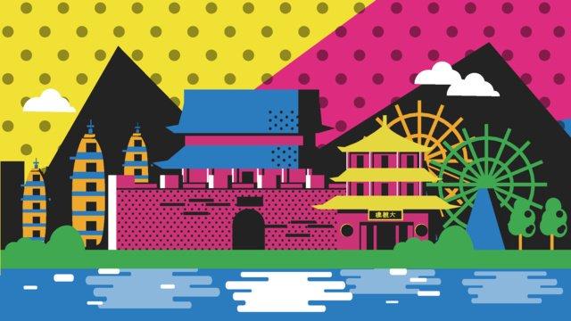 travel yunnan pope wind vector illustration llustration image