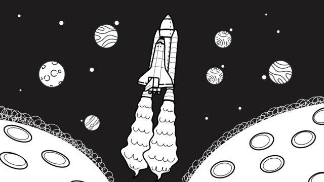 Космические исследования космического корабля космическая иллюстрация Ресурсы иллюстрации