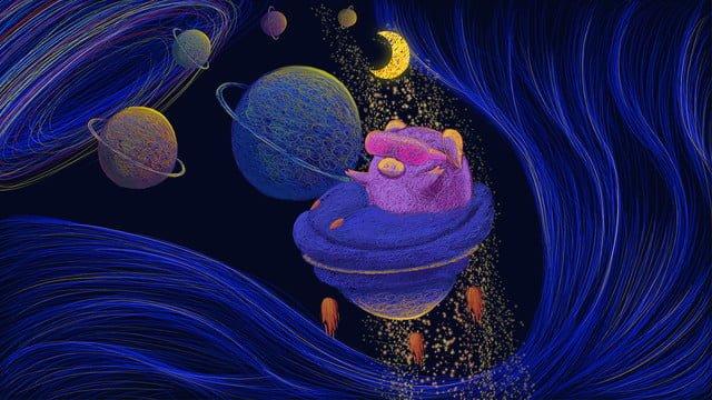 宇宙癒しのコイルの素晴らしい旅 イラスト素材