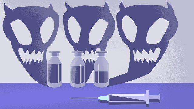 vấn đề vắc xin nguy hiểm không giới hạn Hình minh họa Hình minh họa